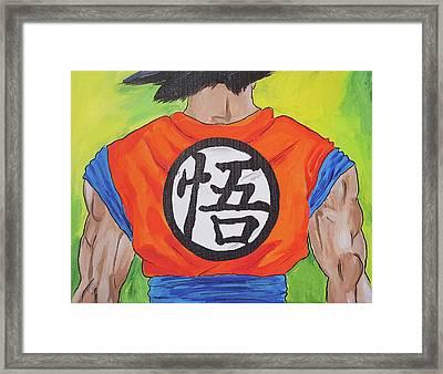 Goku Kanji Framed Print