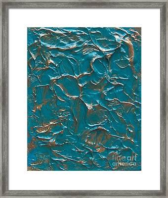 Gold Fluff Ll Framed Print by Marsha Heiken
