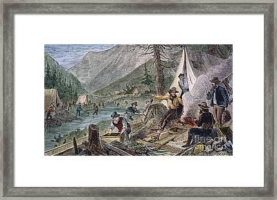 Gold Mining, 1853 Framed Print