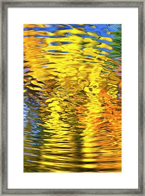 Gold Waves Abstract Framed Print by Christina Rollo