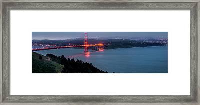 Golden Beacon Framed Print