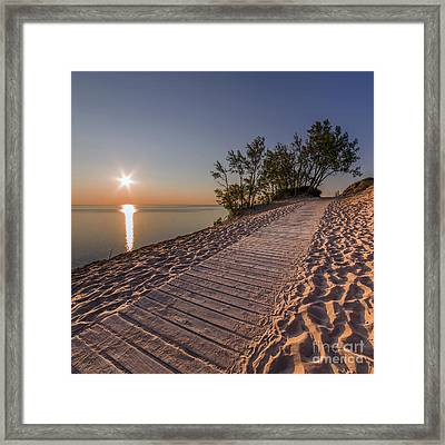 Golden Boardwalk Framed Print
