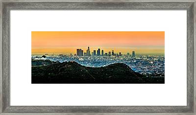 Golden California Sunrise Framed Print
