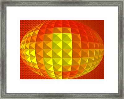 Golden Ellipse Framed Print
