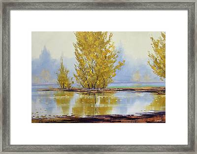 Golden Fall Framed Print