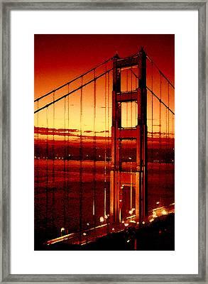 Golden Gate Bridge Framed Print by Gene Sizemore