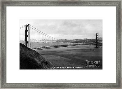 Golden Gate Bridge Framed Print by Granger