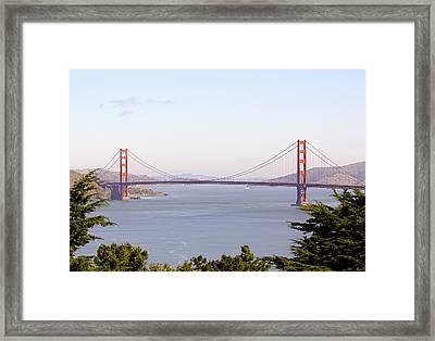 Golden Gate Bridge In San Francisco Framed Print by Daniel Hagerman