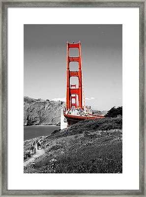 Golden Gate Framed Print by Greg Fortier