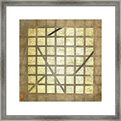 Golden Gridwork Framed Print