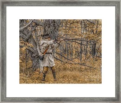 Golden Morning Hunt Framed Print by Randy Steele