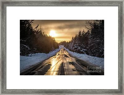 Golden Road Framed Print by Benjamin Williamson
