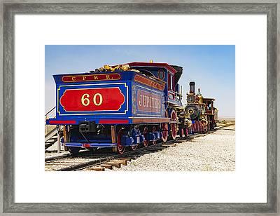 Golden Spike Locomotives Framed Print