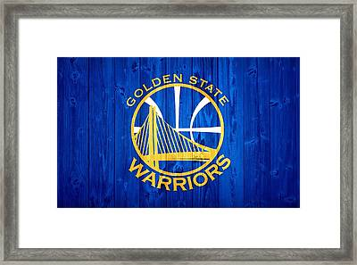 Golden State Warriors Door Framed Print