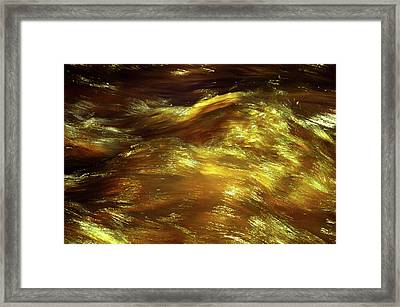 Golden Stream Framed Print by Jenny Rainbow