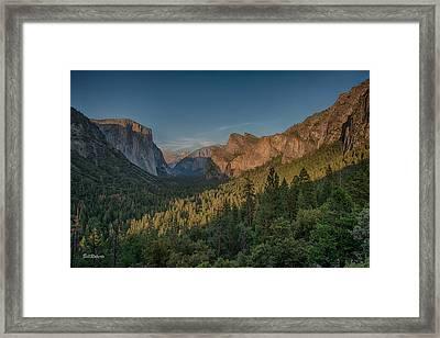 Golden Yosemite Framed Print by Bill Roberts