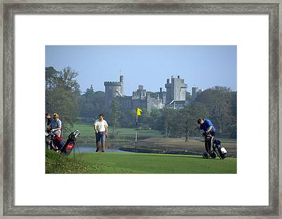 Golf At Dromoland Castle In Ireland Framed Print