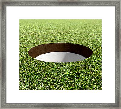 Golf Hole And Green Framed Print by Allan Swart