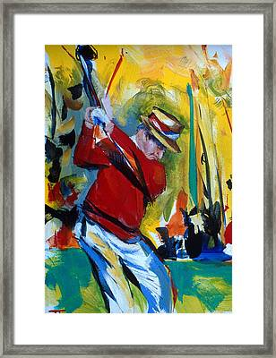 Golf Red Framed Print