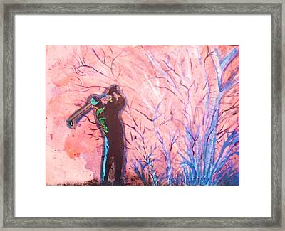 Golfer In The Pink For Par II Framed Print by Anne-Elizabeth Whiteway