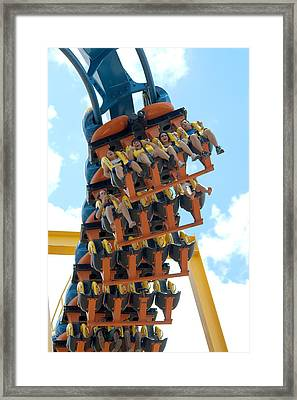 Goliath Rollercoaster Framed Print by Roy Williams