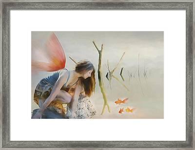 Gone Fishing Framed Print by Terry Fleckney