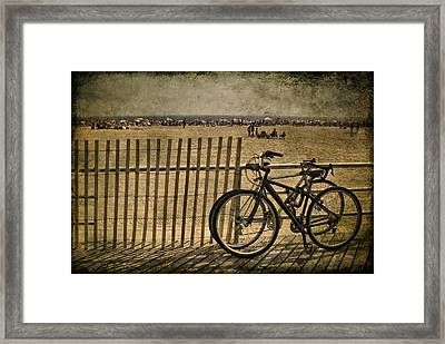 Gone Swimming Framed Print by Evelina Kremsdorf