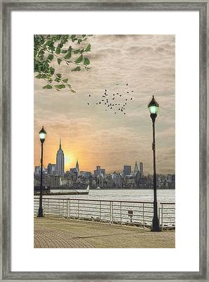 Good Morning New York Framed Print