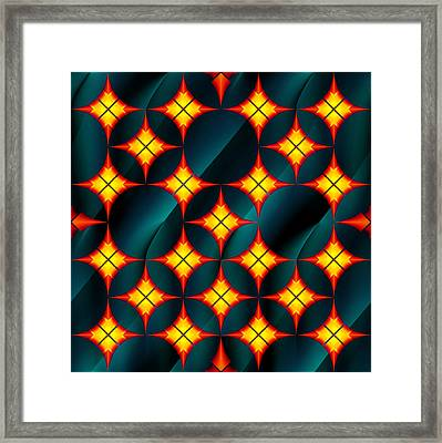 Private Gorgeous Yellow Red Grid  Framed Print