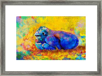 Gorilla Gorilla Framed Print by Betty LaRue