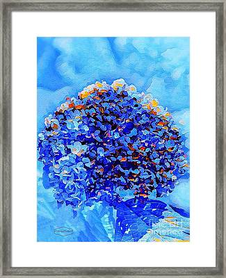 Got The Blues Framed Print by MaryLee Parker