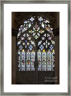 Gothic Stain-glass Window Framed Print