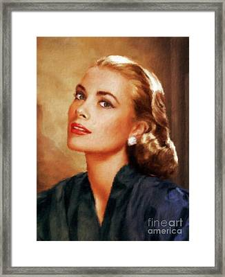 Grace Kelly, Actress And Princess Framed Print by Mary Bassett