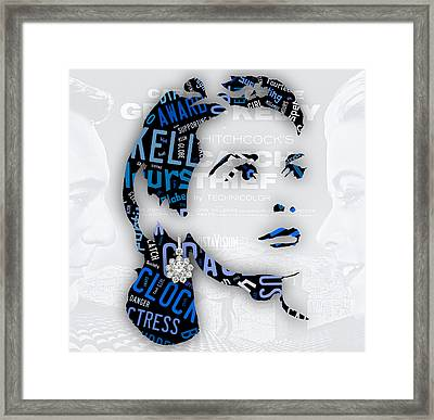 Grace Kelly Movies In Words Framed Print