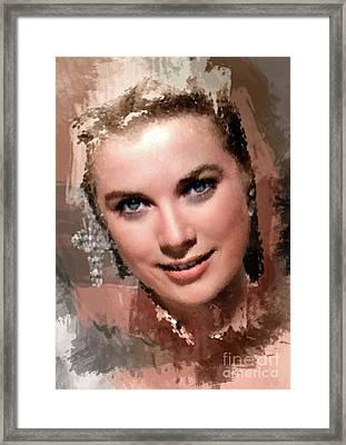 Grace Kelly, Vintage Hollywood Actress Framed Print
