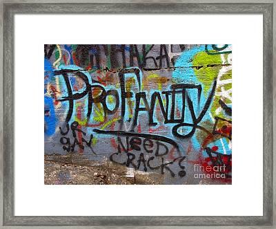 Graffiti On The Aqueduct Bridge Stub Framed Print