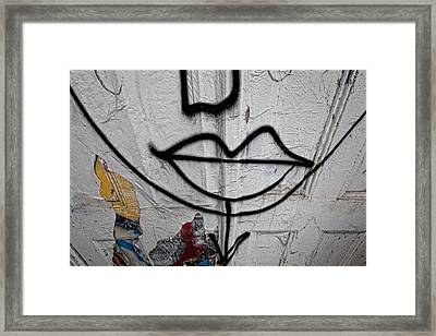 Graffiti Smile Nyc Framed Print