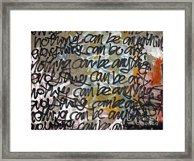 Graffiti Writing Framed Print by Yali Shi