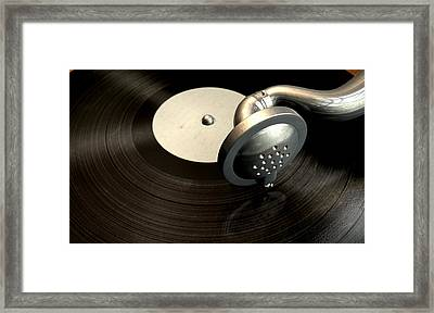 Gramophone And Record Framed Print