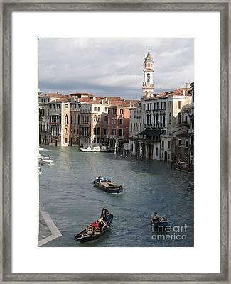 Gran Canal. Venice Framed Print by Bernard Jaubert