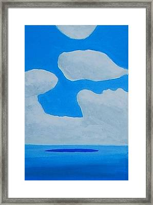 Grand Bahama Cloudscape Framed Print by Dick Sauer