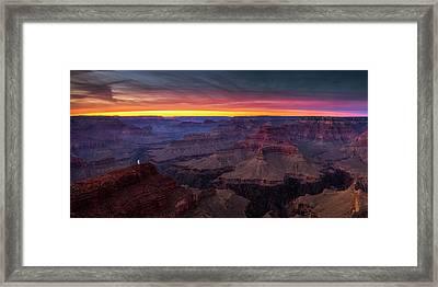 Grand Canyon Evening Framed Print