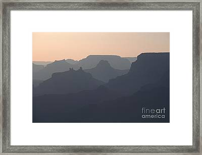 Grand Canyon Pastel Framed Print by Stan and Anne Foster