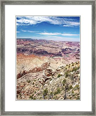 Grand Canyon View From The South Rim, Arizona Framed Print
