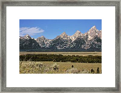 Grand Teton Wy Framed Print by Christine Till