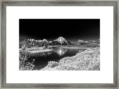 Framed Print featuring the photograph Grand Tetons by Nigel Fletcher-Jones