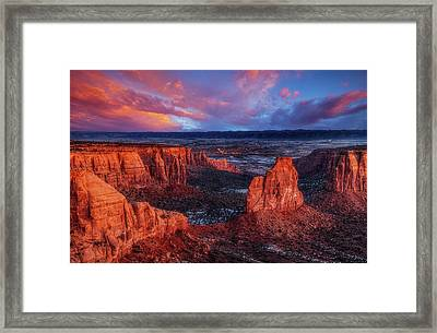 Grand View Sunrise Framed Print by Darren White