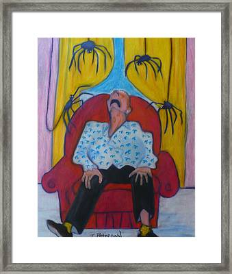 Grandpa And The Spiders Framed Print