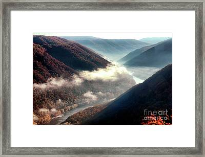 Grandview New River Gorge Framed Print by Thomas R Fletcher