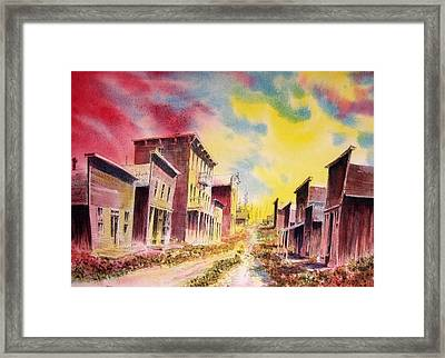 Granite Ghost Town Montana Framed Print by Kevin Heaney